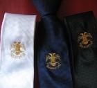 Cravatta ricamo acquila rito scozzese